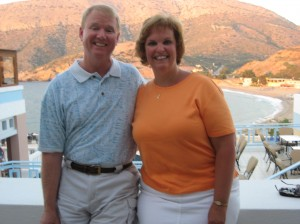 Kent and Kimberly during our first trip of the summer....Crete, Greece