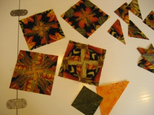 """Autumn-inspired four-patch blocks with a """"twist."""""""