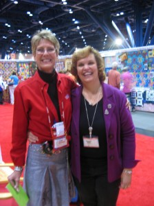 The talented and awesome Jeanne Delphit Cooke, from Bernina USA with me