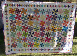 Pat Deck's Pinwheels and Geese quilt