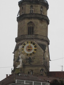 One of the local landmarks, the clock tower.