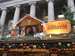 What's this? A nativity AND Gluhwein? Only in Germany...