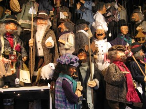 Elaborate handmade marionettes