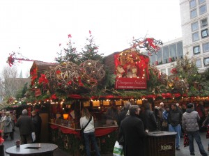 The roof of each booth is elaborately and beautifully decorated in festive finery!