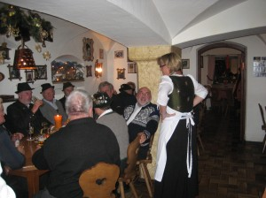 We enjoyed Sunday evening supper in Mittenwald where all the local residents meet at the Gasthof Stern. The food was delicious and the atmosphere was delightful!