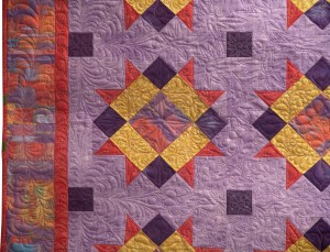 Halls of History Front detailed quilting