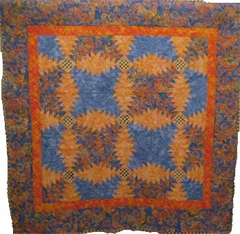 Pineapple Log Cabin Quilt
