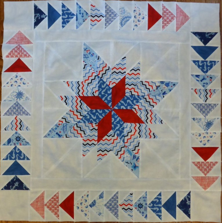 Variable Pinwheel Lonestar block