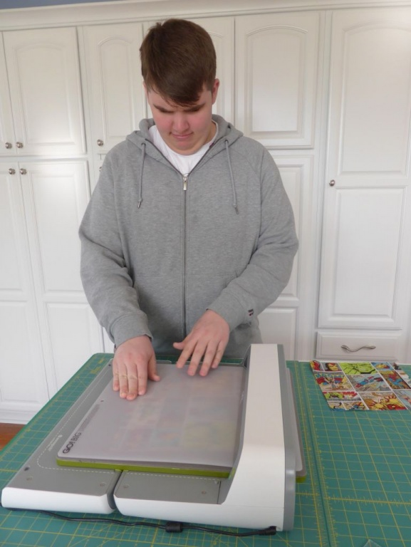 Andrew using the GO BIG cutter - Copy