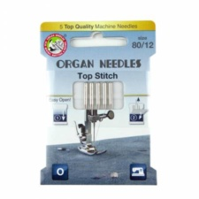 Organ Needles Top Stitch Size 80/12 Eco Pack