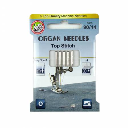 Organ Needles Top Stitch Size 90/14 Eco Pack