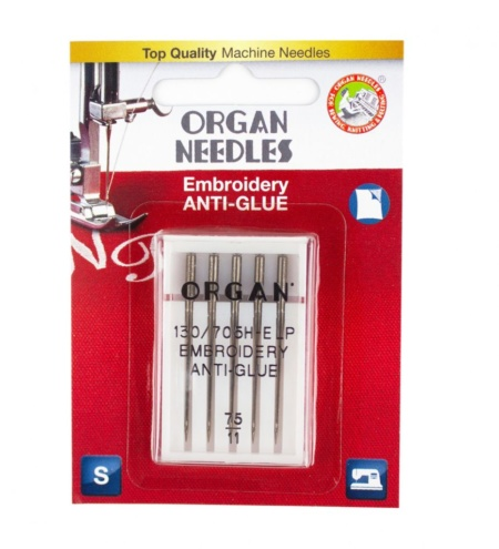 Organ Needles Anti Glue Size 75/11 Blister Pack