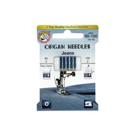 Organ ECO Needles Jeans Assortment - 5 Needles Per Pack