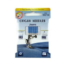 Organ Needles Jeans Size 90/14 Eco Pack